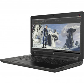 """Laptop HP ZBook 17 G2 J8Z41EA - i7-4810MQ, 17,3"""" FHD, RAM 16GB, 256GB + 750GB, Quadro K4100M, Czarno-szary, DVD, Windows 7 Professional - zdjęcie 6"""