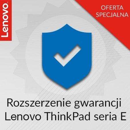 Rozszerzenie gwarancji Lenovo ThinkPad seria E z 1 roku Door-to-Door do 3 lat Onsite.