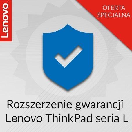 Rozszerzenie gwarancji Lenovo ThinkPad seria L z 1 roku Door-to-Door do 3 lat Onsite.