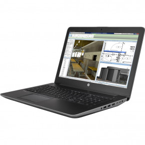 """HP ZBook 15 G4 1RQ74EA - i7-7700HQ, 15,6"""" Full HD, RAM 16GB, SSD 256GB, NVIDIA Quadro M1200, Czarno-szary, Windows 10 Pro - zdjęcie 6"""