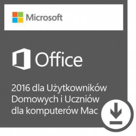 Microsoft Office Mac 2016 Home & Student PL 32- 1