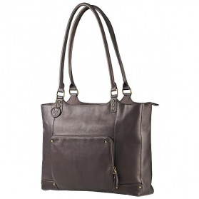 HP Ladies Brown Leather Tote F3W12AA - 1