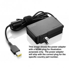 ThinkPad 65W Slim travel Adapter GX20H15603 - 1