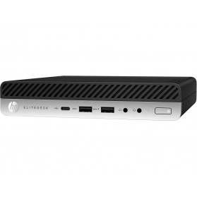 Komputer HP EliteDesk 705 G4 4KX74EA - Mini Desktop, AMD Ryzen 5 PRO 2400GE , RAM 8GB, SSD 256GB, AMD Radeon RX560, Windows 10 Pro - zdjęcie 4