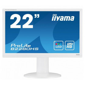 "Monitor iiyama ProLite B2280HS-W1 - 22"", 1920x1080 (Full HD), TN, 5 ms, pivot - zdjęcie 3"