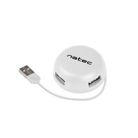 Natec NHU-1331 HUB USB 2.0 NATEC BUMBLEBEE 4-PORTY BIAŁY