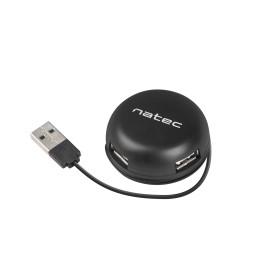 Natec NHU-1330 HUB USB 2.0 NATEC BUMBLEBEE 4-PORTY CZARNY