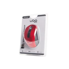 UGo UMY-1075 MYSZ UGO MY-02 BEZPRZEWODOWA 1800DPI CZERWONA OPTYCZNA USB