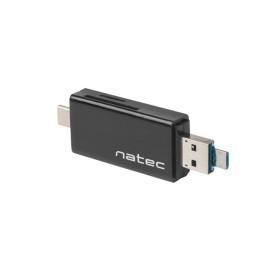 Natec NCZ-1344 CZYTNIK NATEC EARWIG SD/MICRO SD USB 2.0, MICRO USB, USB-C CZARNY