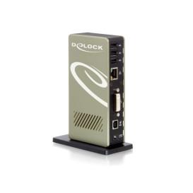 Delock 87503 REPLIKATOR PORTÓW USB 2.0-4X USB, DVI-I, LAN
