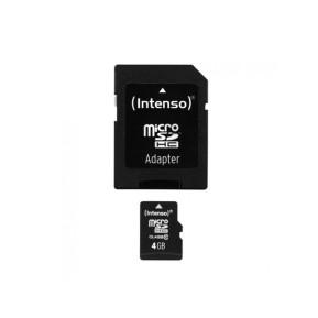Intenso 3413450 KARTA PAMIĘCI INTENSO MICRO SD 4GB SDHC CARD CLASS 10