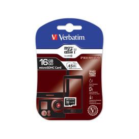 Verbatim 44010 KARTA PAMIĘCI VERBATIM MICRO SDHC 16GB CLASS 10