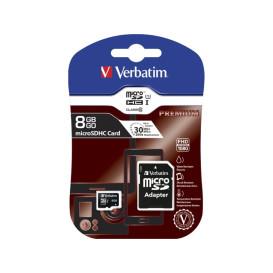 Verbatim 44081 KARTA PAMIĘCI VERBATIM MICRO SDHC 8GB CLASS 10 + ADAPTER SD