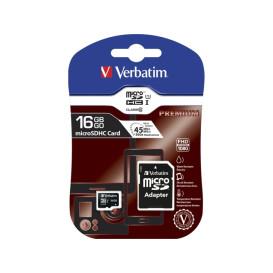 Verbatim 44082 KARTA PAMIĘCI VERBATIM MICRO SDHC 16GB CLASS 10 + ADAPTER SD