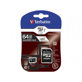 Verbatim 44084 KARTA PAMIĘCI VERBATIM MICRO SDXC 64GB CLASS 10 + ADAPTER SD