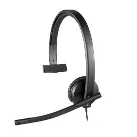 Słuchawki Logitech H570e Headset USB black mono 981-000571