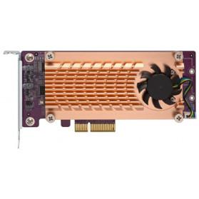 QM2-2P-244A QNAP 2-portowa karta rozszerzeń SSD PCle NVMe M.2 22110, 2280 - zdjęcie 1