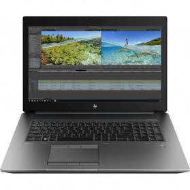 """Laptop HP ZBook 17 G6 6TU98EA - i7-9850H, 17,3"""" FHD IPS, RAM 16GB, SSD 256GB, NVIDIA Quadro RTX 3000, Czarno-grafitowy, Windows 10 Pro - zdjęcie 6"""