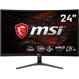 "Monitor MSI Optix G241VC OPTIX G241VC - 23,6"", 1920x1080 (Full HD), 75Hz, zakrzywiony, VA, FreeSync, 1 ms, Czarny"
