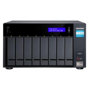 Serwer NAS QNAP Tower TVS-872X-I3-8G - Tower, Intel Core i3-8100T 4-core, 4-thread, 8 GB RAM, 8 wnęk, hot-swap - zdjęcie 3