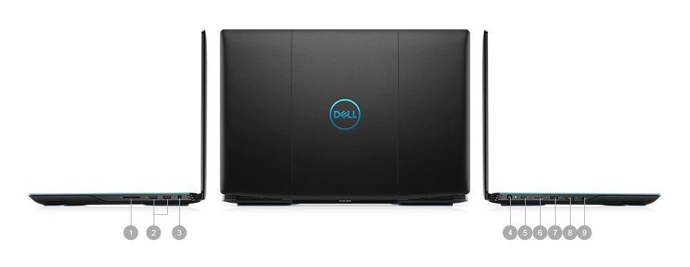 Porty i złącz w serii laptopów Dell Inspiron G3 3590