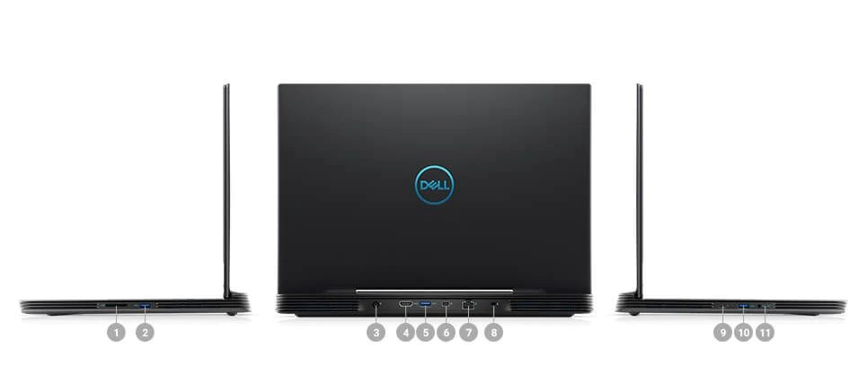 Porty i gniazda w laptopach Dell Inspiron G5 5590